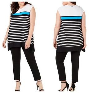 Calvin Klein Sleeveless Striped Tunic - Size 2X